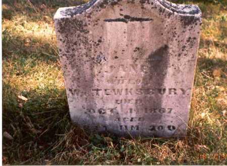 TEWKSBURY, JANE - Athens County, Ohio | JANE TEWKSBURY - Ohio Gravestone Photos