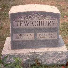 TEWKSBURY, LORING A. - Athens County, Ohio | LORING A. TEWKSBURY - Ohio Gravestone Photos