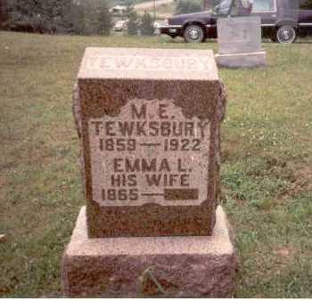 MCCARTY TEWKSBURY, EMMA L. - Athens County, Ohio | EMMA L. MCCARTY TEWKSBURY - Ohio Gravestone Photos