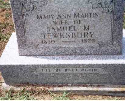 TEWKSBURY, MARY ANN - Athens County, Ohio | MARY ANN TEWKSBURY - Ohio Gravestone Photos