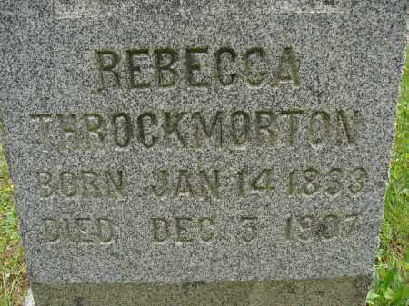 THROCKMORTON, REBECCA - Athens County, Ohio | REBECCA THROCKMORTON - Ohio Gravestone Photos