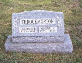 BOWERS THROCKMORTON, MINNIE V. - Athens County, Ohio | MINNIE V. BOWERS THROCKMORTON - Ohio Gravestone Photos