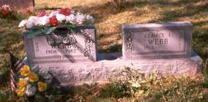 WEBB, CLAIRCY L. - Athens County, Ohio | CLAIRCY L. WEBB - Ohio Gravestone Photos
