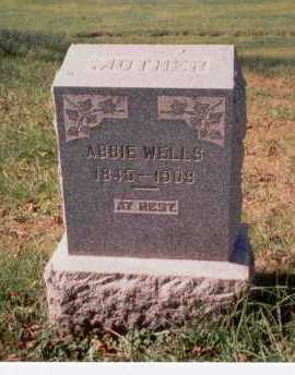 WOODYARD WELLS, ABBIE - Athens County, Ohio   ABBIE WOODYARD WELLS - Ohio Gravestone Photos