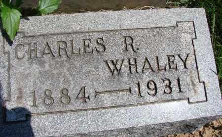 WHALEY, CHARLES R - Athens County, Ohio | CHARLES R WHALEY - Ohio Gravestone Photos