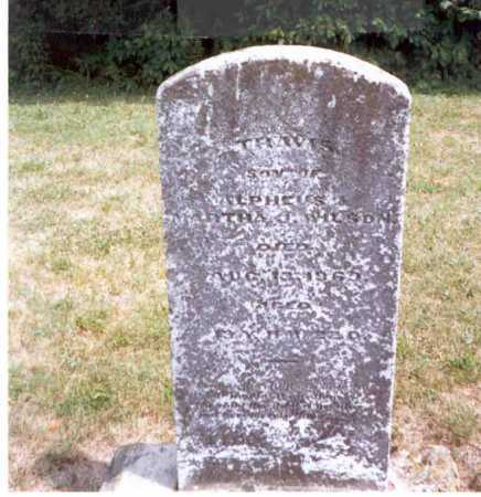 WILSON, TRAVIS - Athens County, Ohio   TRAVIS WILSON - Ohio Gravestone Photos