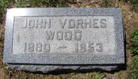 WOOD, JOHN VORHES - Athens County, Ohio | JOHN VORHES WOOD - Ohio Gravestone Photos