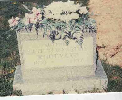 TEWKSBURY WOODYARD, KATE - Athens County, Ohio | KATE TEWKSBURY WOODYARD - Ohio Gravestone Photos
