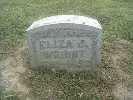 WRIGHT, ELIZA J - Athens County, Ohio   ELIZA J WRIGHT - Ohio Gravestone Photos