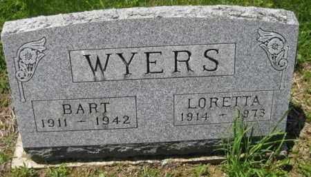 WYERS, BART - Athens County, Ohio | BART WYERS - Ohio Gravestone Photos