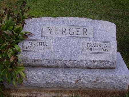 YERGER, MARTHA - Athens County, Ohio | MARTHA YERGER - Ohio Gravestone Photos