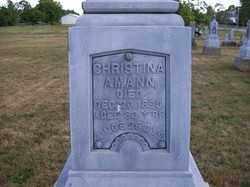 AMANN, CHRISTINA - Auglaize County, Ohio | CHRISTINA AMANN - Ohio Gravestone Photos