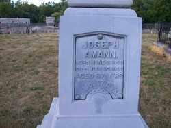 AMANN, JOSEPH - Auglaize County, Ohio | JOSEPH AMANN - Ohio Gravestone Photos