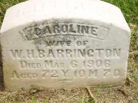 BARRINGTON, CAROLINE - Auglaize County, Ohio | CAROLINE BARRINGTON - Ohio Gravestone Photos