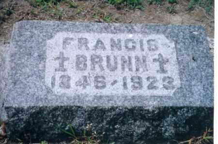 BRUNN, FRANCIS - Auglaize County, Ohio | FRANCIS BRUNN - Ohio Gravestone Photos