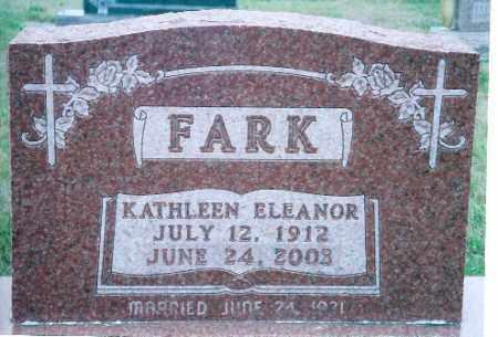 FARK, KATHLEEN ELEANOR - Auglaize County, Ohio | KATHLEEN ELEANOR FARK - Ohio Gravestone Photos