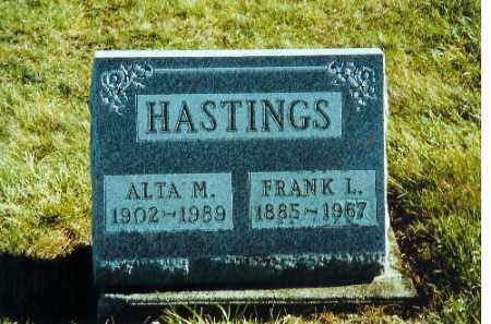 HASTINGS, FRANK L. - Auglaize County, Ohio | FRANK L. HASTINGS - Ohio Gravestone Photos
