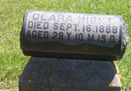 HIGHT, CLARA - Auglaize County, Ohio   CLARA HIGHT - Ohio Gravestone Photos