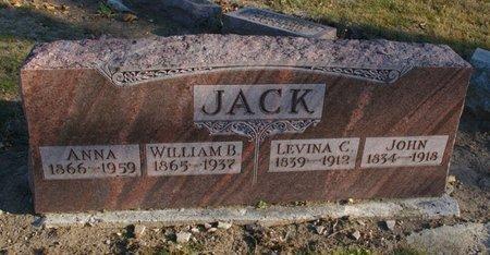 JACK, WILLIAM B - Auglaize County, Ohio | WILLIAM B JACK - Ohio Gravestone Photos