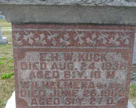 KUCK, CHRISTINA WILHELMINA - Auglaize County, Ohio | CHRISTINA WILHELMINA KUCK - Ohio Gravestone Photos