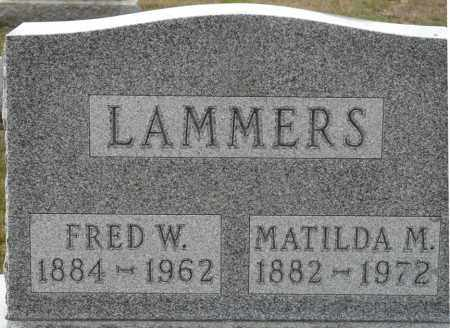 LAMMERS, FRED W - Auglaize County, Ohio | FRED W LAMMERS - Ohio Gravestone Photos