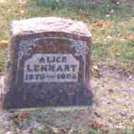 RALSTON LENHART, OSIE ALICE - Auglaize County, Ohio | OSIE ALICE RALSTON LENHART - Ohio Gravestone Photos