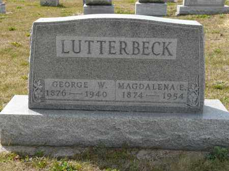 LUTTERBECK, MAGDALENA E - Auglaize County, Ohio | MAGDALENA E LUTTERBECK - Ohio Gravestone Photos
