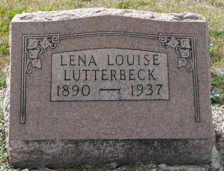 LUTTERBECK, LENA LOUISE - Auglaize County, Ohio | LENA LOUISE LUTTERBECK - Ohio Gravestone Photos