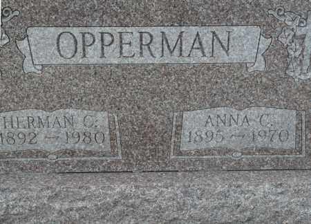 OPPERMAN, ANNA CHRISTENA - Auglaize County, Ohio | ANNA CHRISTENA OPPERMAN - Ohio Gravestone Photos