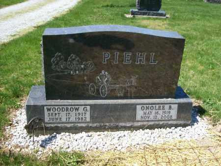 PIEHL, ONOLEE B. - Auglaize County, Ohio   ONOLEE B. PIEHL - Ohio Gravestone Photos