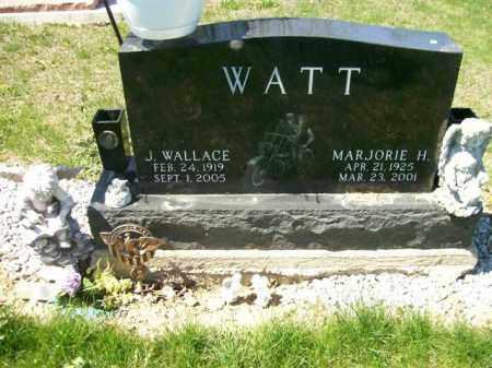 WATT, MARJORIE H. - Auglaize County, Ohio   MARJORIE H. WATT - Ohio Gravestone Photos