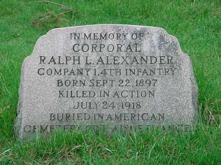 ALEXANDER, RALPH L. - Belmont County, Ohio | RALPH L. ALEXANDER - Ohio Gravestone Photos