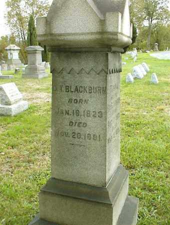 BLACKBURN, OLIVER T - Belmont County, Ohio | OLIVER T BLACKBURN - Ohio Gravestone Photos