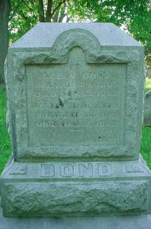BOND, ALLEN - Belmont County, Ohio | ALLEN BOND - Ohio Gravestone Photos