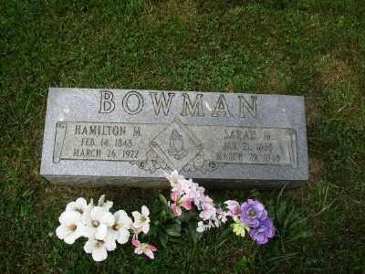 BOWMAN, HAMILTON M - Belmont County, Ohio   HAMILTON M BOWMAN - Ohio Gravestone Photos