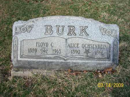 BURK, ALICE - Belmont County, Ohio   ALICE BURK - Ohio Gravestone Photos