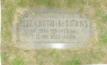 BURNS, ELIZABETH - Belmont County, Ohio | ELIZABETH BURNS - Ohio Gravestone Photos