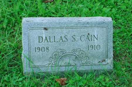 CAIN, DALLAS S. - Belmont County, Ohio | DALLAS S. CAIN - Ohio Gravestone Photos