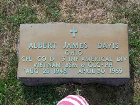 DAVIS, ALBERT JAMES - Belmont County, Ohio | ALBERT JAMES DAVIS - Ohio Gravestone Photos