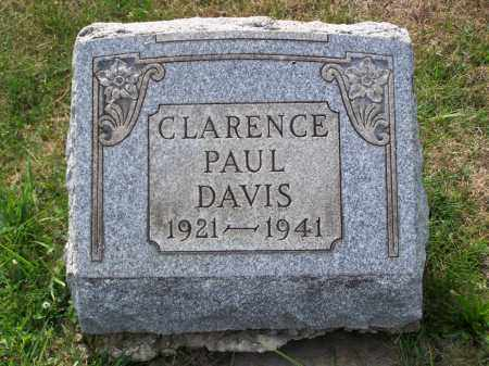 DAVIS, CLARENCE PAUL - Belmont County, Ohio | CLARENCE PAUL DAVIS - Ohio Gravestone Photos