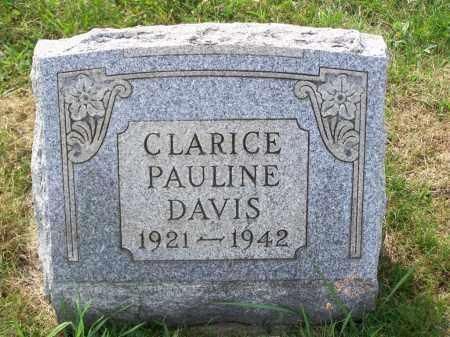 DAVIS, CLARICE PAULINE - Belmont County, Ohio   CLARICE PAULINE DAVIS - Ohio Gravestone Photos