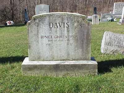GROVES DAVIS, EUNICE L. - Belmont County, Ohio   EUNICE L. GROVES DAVIS - Ohio Gravestone Photos
