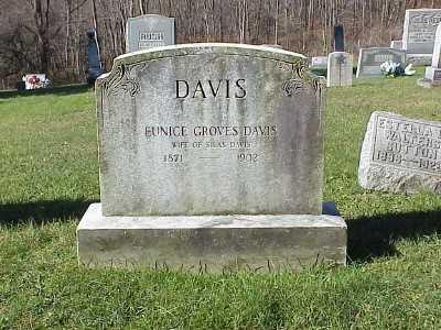 DAVIS, EUNICE - Belmont County, Ohio | EUNICE DAVIS - Ohio Gravestone Photos