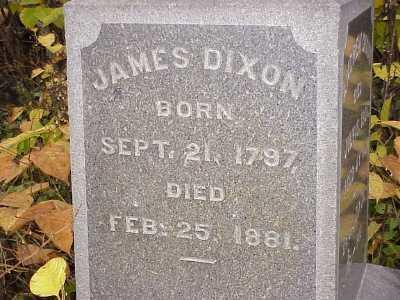 DIXON, JAMES - Belmont County, Ohio   JAMES DIXON - Ohio Gravestone Photos