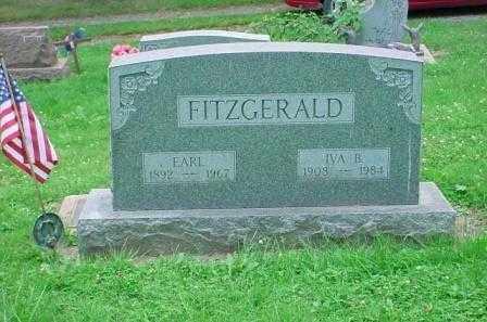 FITZGERALD, EARL - Belmont County, Ohio | EARL FITZGERALD - Ohio Gravestone Photos
