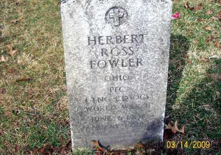 FOWLER, HERBERT ROSS - Belmont County, Ohio | HERBERT ROSS FOWLER - Ohio Gravestone Photos