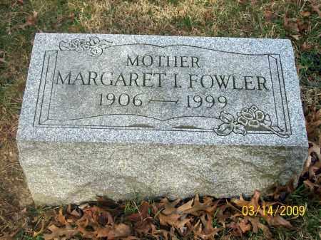 FOWLER, MARGARET I - Belmont County, Ohio | MARGARET I FOWLER - Ohio Gravestone Photos