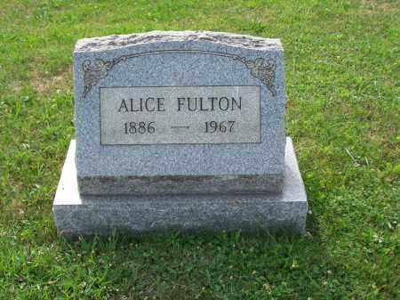 FULTON, ALICE - Belmont County, Ohio | ALICE FULTON - Ohio Gravestone Photos