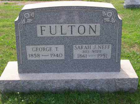 FULTON, GEORGE T - Belmont County, Ohio | GEORGE T FULTON - Ohio Gravestone Photos