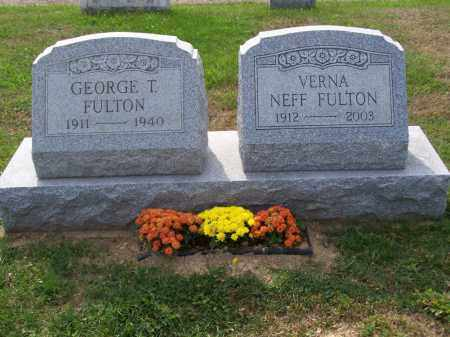 FULTON, GERORGE T - Belmont County, Ohio | GERORGE T FULTON - Ohio Gravestone Photos